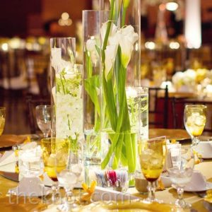 cylinder vases- wedding-centerpiece