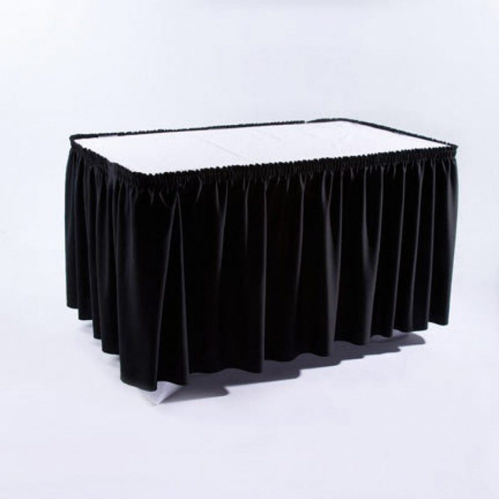 Black Table Skirting