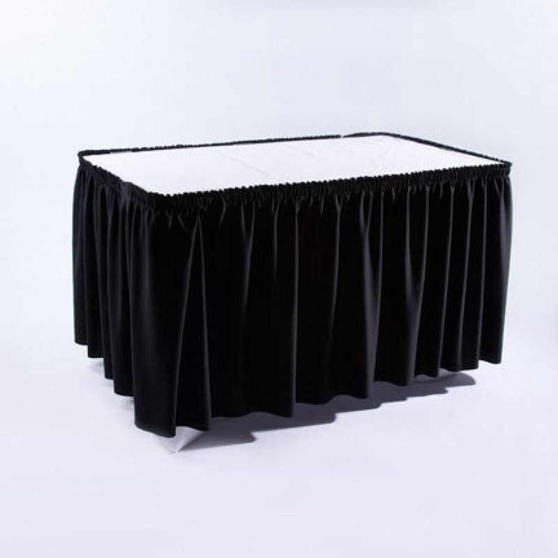 Black table skirting rc events for Table skirting