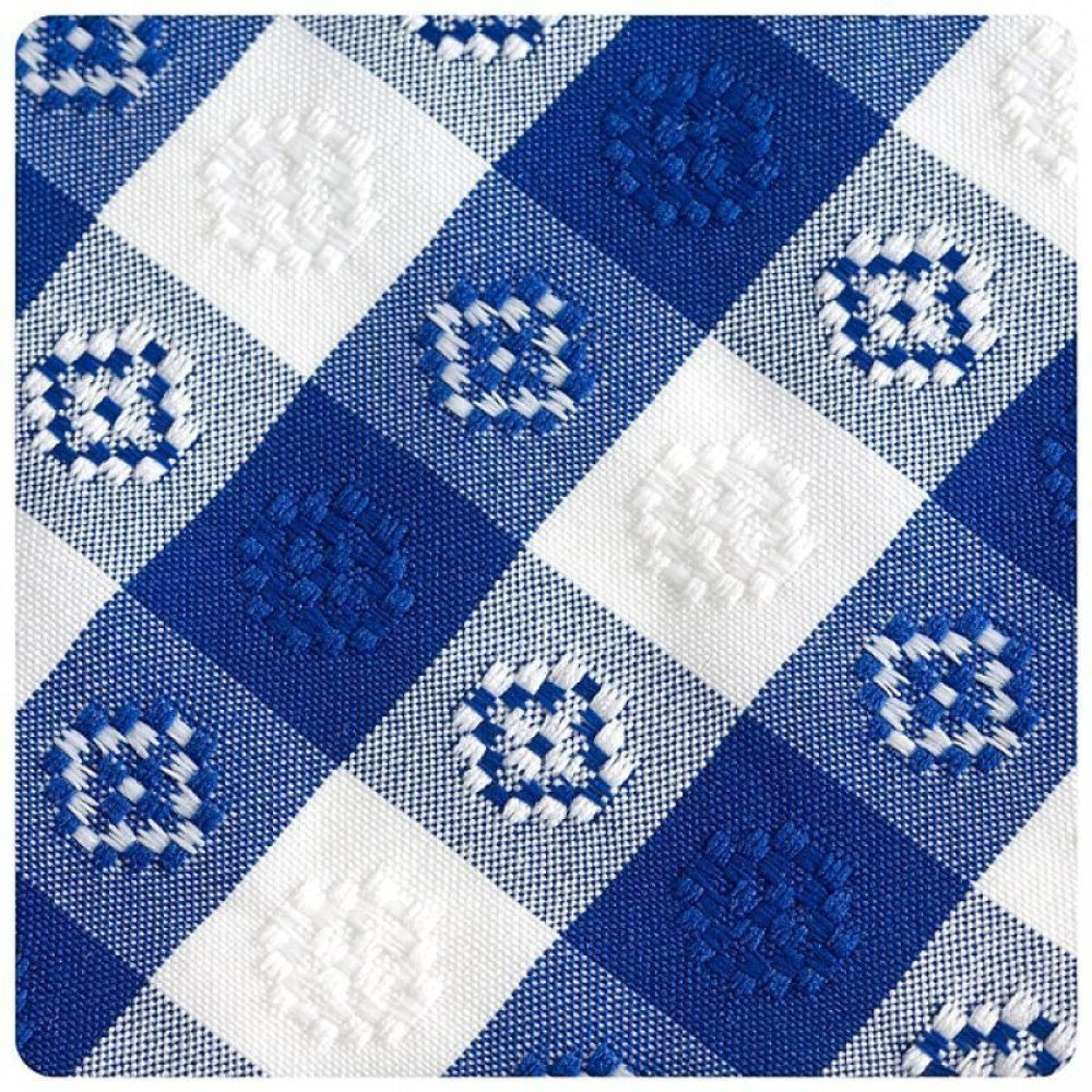 Blue and White Checked