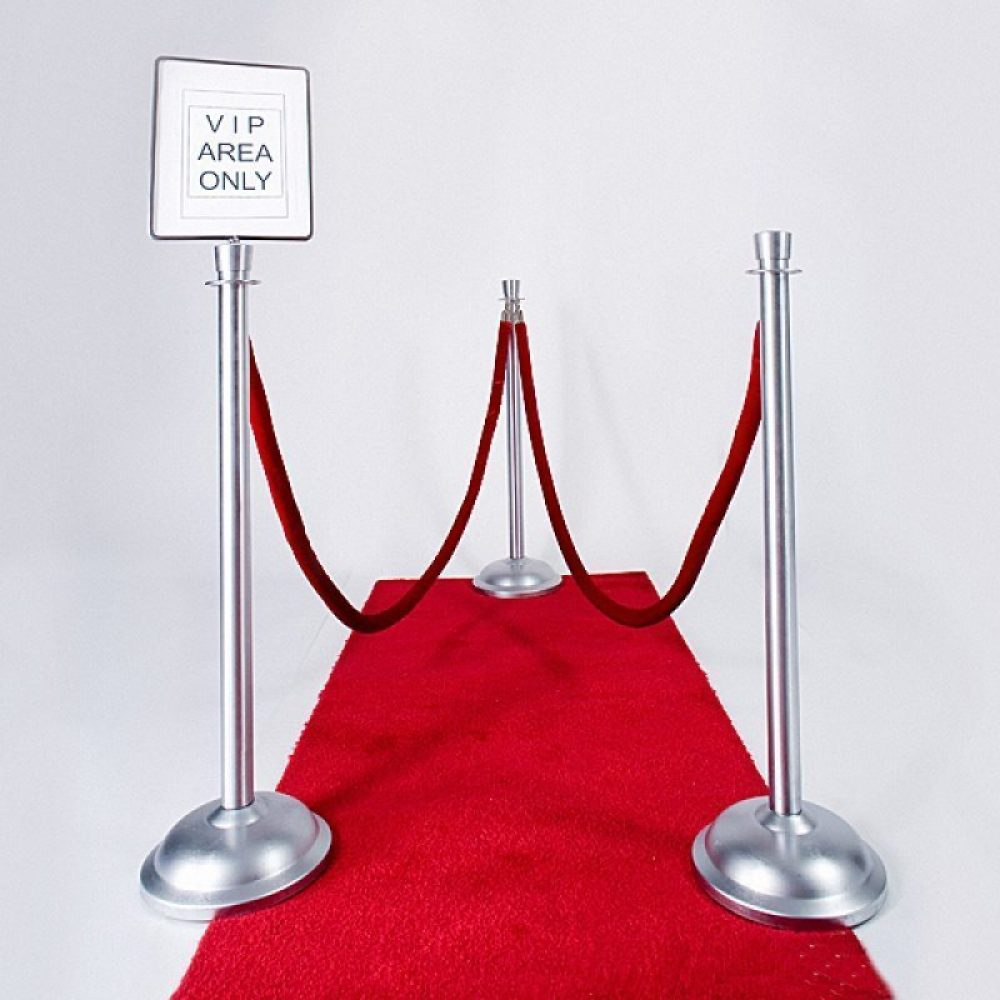 Carpet Runners , Chrome Stanchion with Velvet Rope