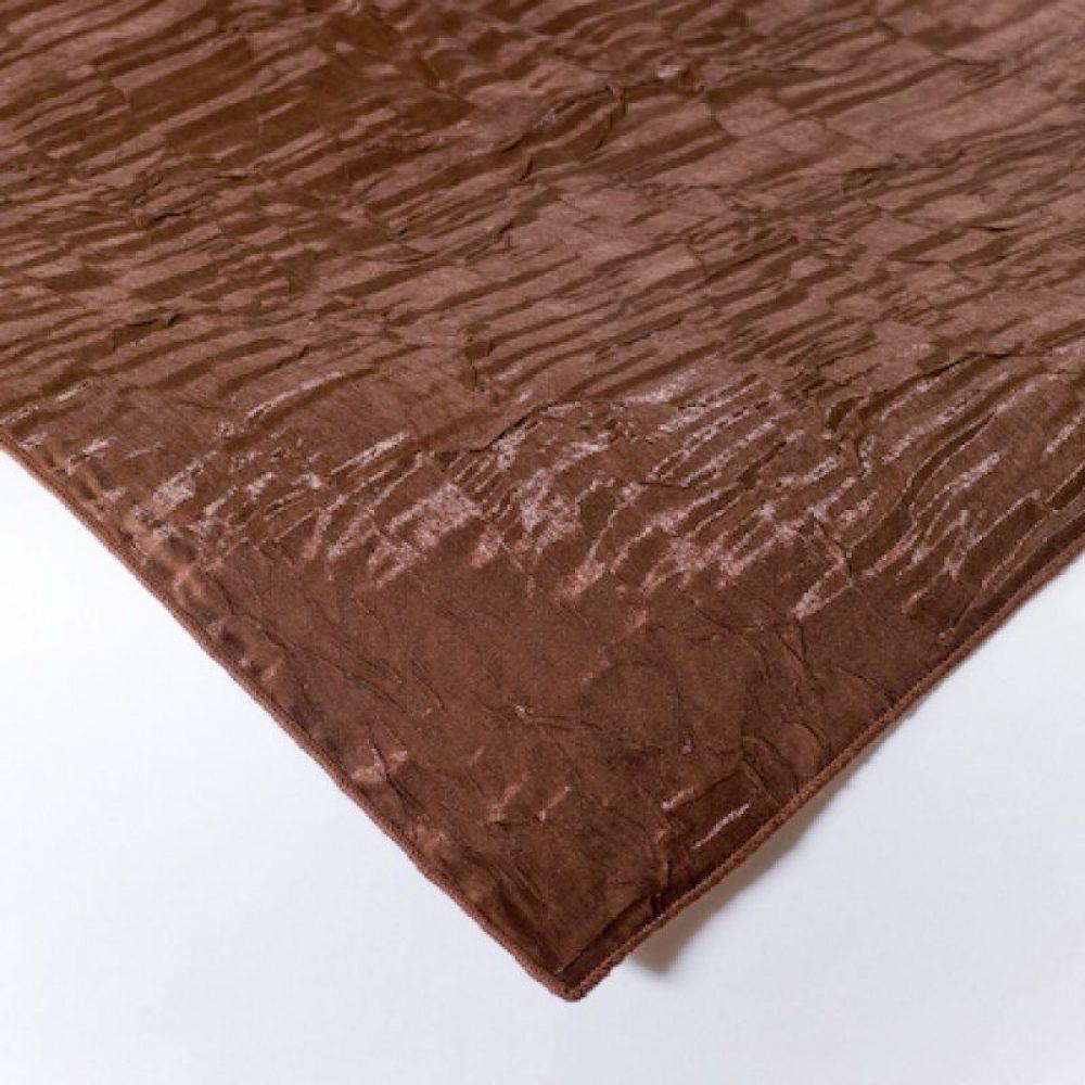 Iridescent Crush Linen Chocolate