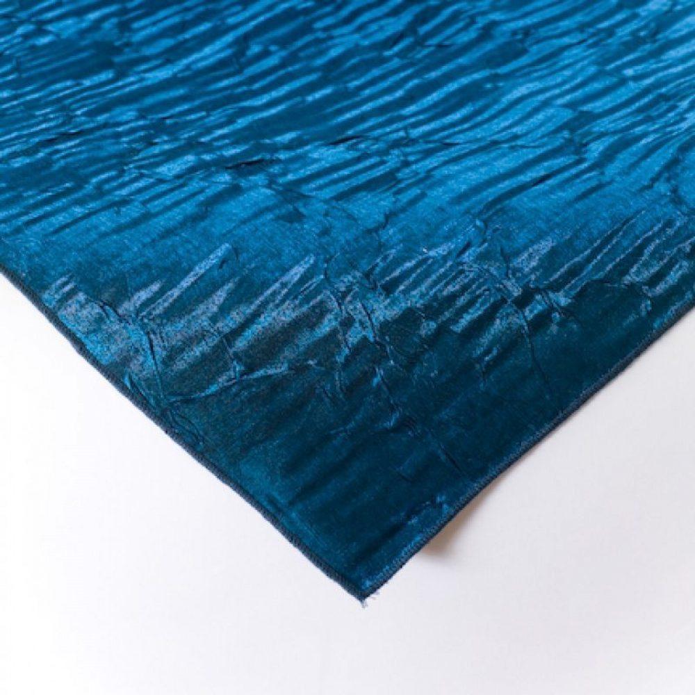 Iridescent Crush Linen Cobalt Blue