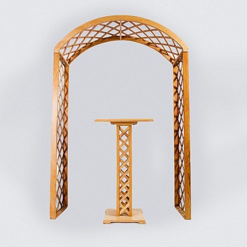 Natural Lattice Arch & Ceremony Accessories