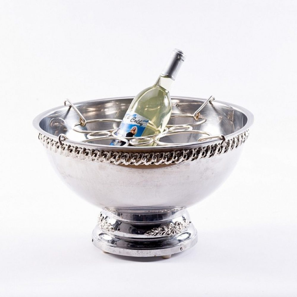 Silver Punch Bowl with  Bottle Insert