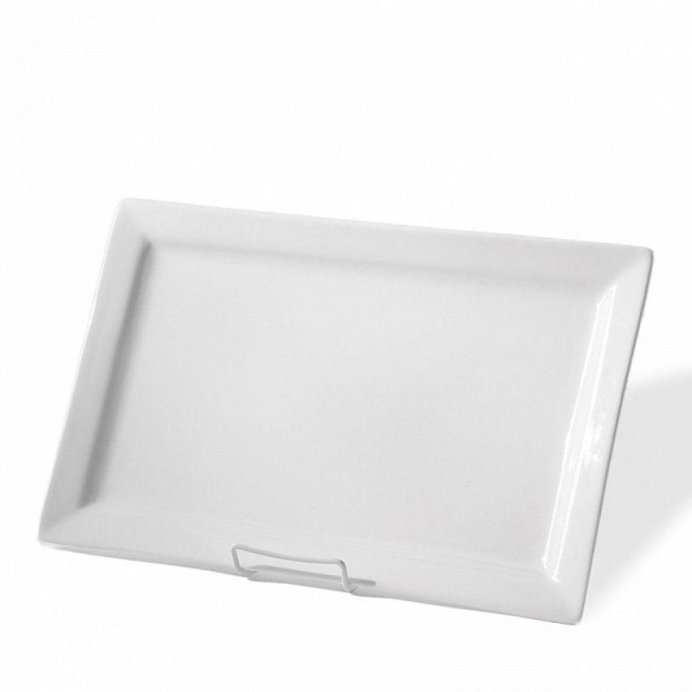 """White Ceramic Platter 17"""" x 11"""""""