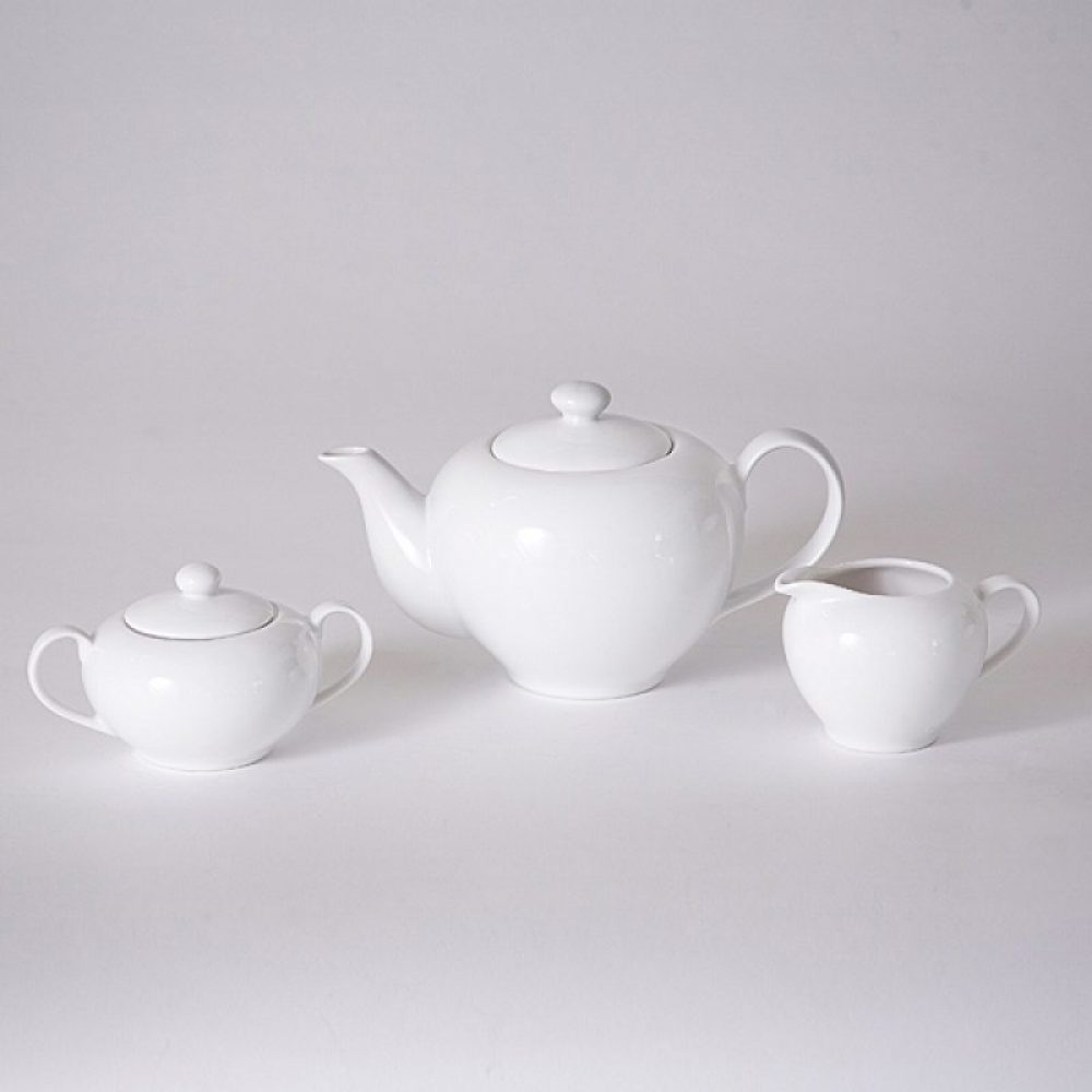 White China Tea Set