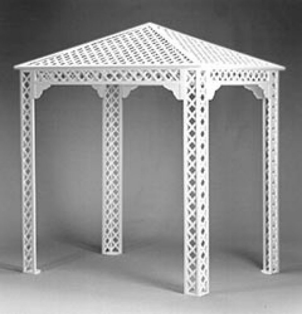 White Lattice Gazebo / Chuppa