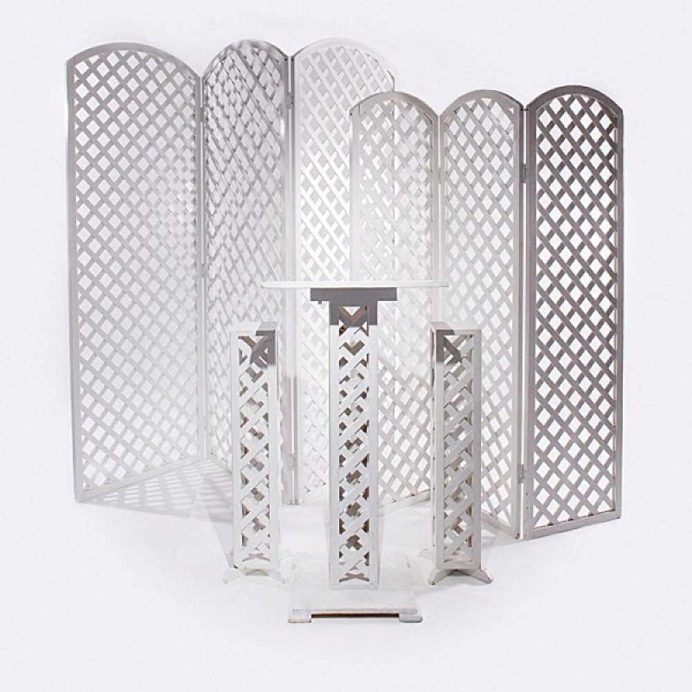 White Lattice Wedding  Accessories