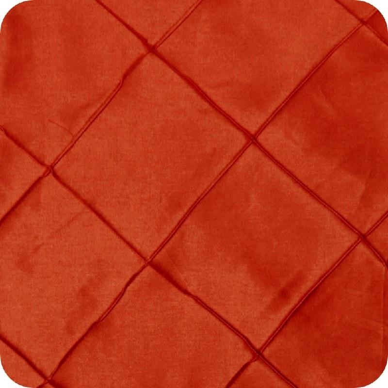 Burnt Orange Pintuck Linen