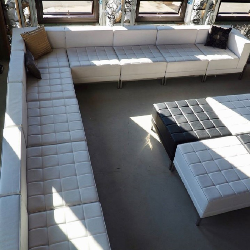 Black and White Leather Furniture - Couches, sectional, ottoman, love seats