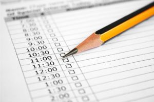 Time management event planning