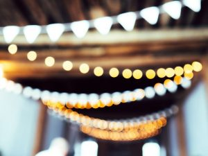 lights hanging from ceiling