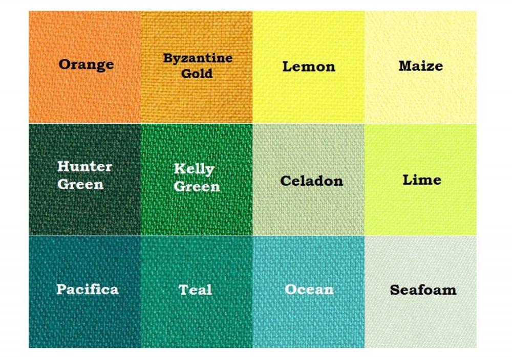 Orange, Yellow, & Green Linens
