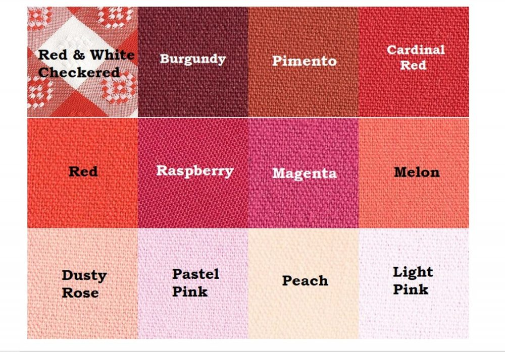 Red & Pink Linen Colors